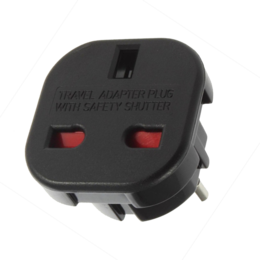 Euro adapter 110/240V - UK plug naar EU zwart