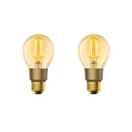 2-pack Woox Smart Filament WiFi LED E27 lamp