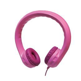 LogiLink Flexibele kinder koptelefoon roze