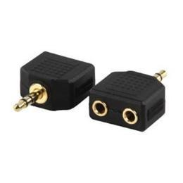 Audioconverter Stereo Jack naar 2x Kontra stekker (splitter)