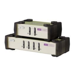 Aten CS84U 4-poorts PS/2 & USB KVM switch + kabels