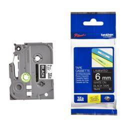 Brother TZe-315 Tape gelamineerd 6mm wit/zwart