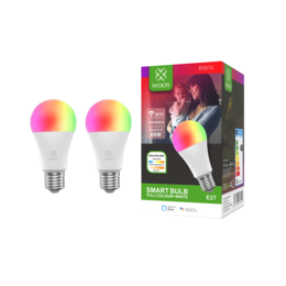 2-pack Woox R9074 Slimme E27 LED lamp WiFi RGB
