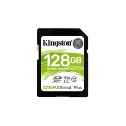 Kingston Canvas Select Plus SDXC 128GB SD kaart SDS2/128GB