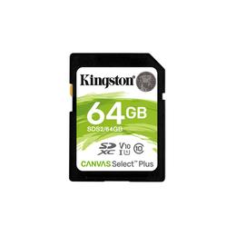 Kingston Canvas Select Plus SDXC 64GB SD kaart SDS2/64GB
