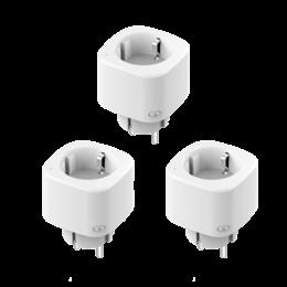3-pack Woox Smart plug R6080 slimme stekker smal 16A