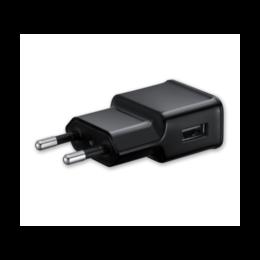 Universele USB telefoonlader fast charge 5V 2A zwart bulk