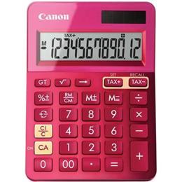 Canon LS-123K calculator rekenmachine roze