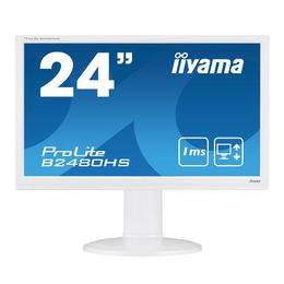"23,6"" iiyama B2480HS-W2 Wit Pivot 2ms DSub/DVI/HDMI + Spk"