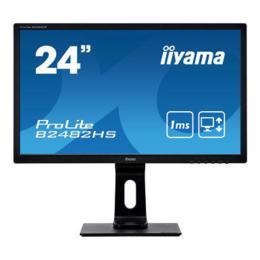 """24"""" iiyama B2482HS-B1 LED 5ms pivot D-Sub/DVI/HDMI"""