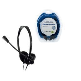 LogiLink Stereo deluxe koptelefoon met microfoon