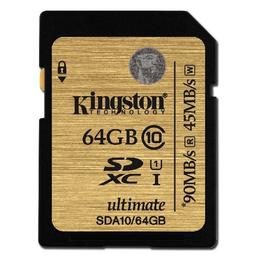 Kingston SDHX Ultimate 64GB Class 10 U1 SD kaart SDA10/64GB