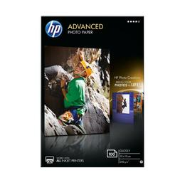 HP Advanced glazend fotopapier 10x15  zonder rand 100 vel