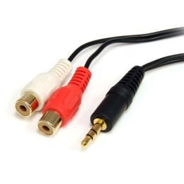 StarTech 3,5mm Jack naar 2x Tulp audiokabel M/F 1.8m