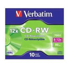 Verbatim CD-RW 700MB 10 stuks Jewelcase